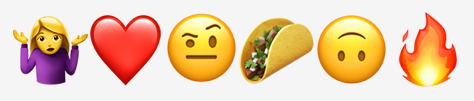 Examples of emojis