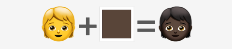 Examples of an emoji with a skin tone