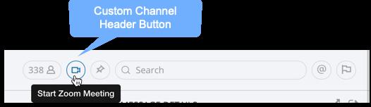 Custom Channel Header Button